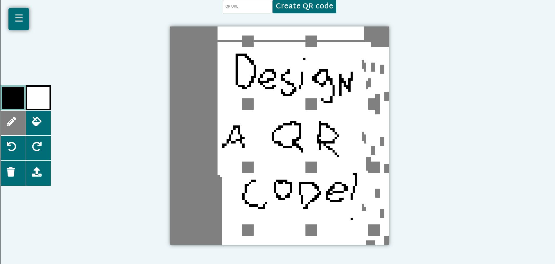 A screenshot of the editor of My-QR.art