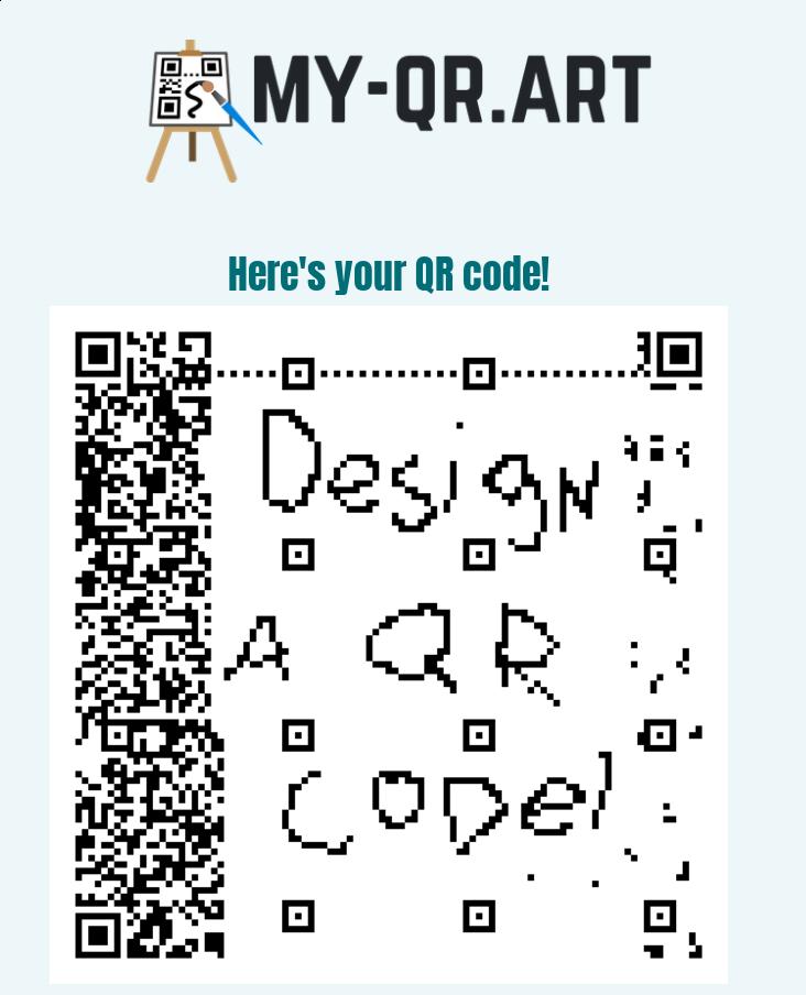 A screenshot of the success screen of My-QR.art